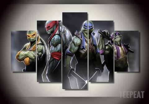Turtles - 5 Piece Canvas LIMITED EDITION - The Nerd Cave