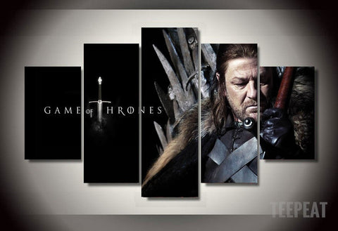 Game of Trones - Eddard Stark 5 Piece Canvas LIMITED EDITION - The Nerd Cave