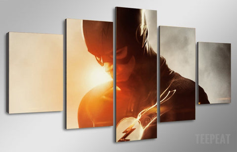 Flash - 5 Piece Canvas LIMITED EDITION - The Nerd Cave - 2