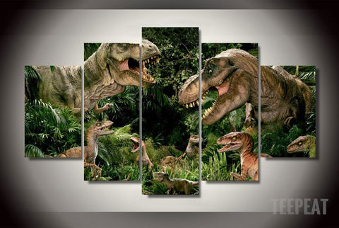 Jurassic Park: T-rex - 5 Piece Canvas LIMITED EDITION-Canvas-TEEPEAT