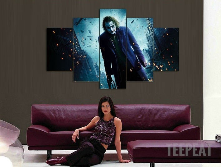 Joker in Gotham - 5 Piece Canvas LIMITED EDITION-Canvas-TEEPEAT