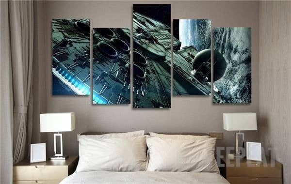 Millennium Falcon 5 Piece Canvas Painting Empire Prints