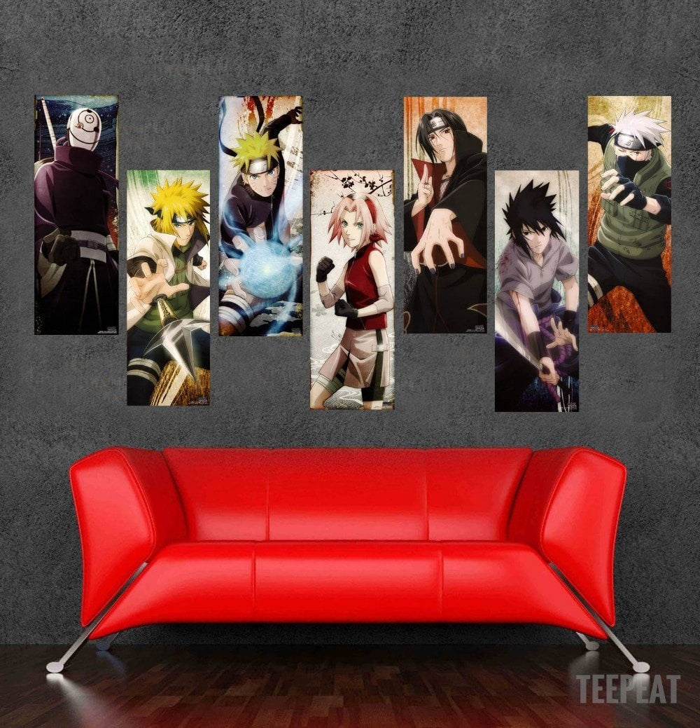 Naruto - 6 Piece Canvas LIMITED EDITION - The Nerd Cave - 1