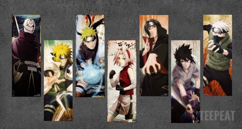 Naruto - 6 Piece Canvas LIMITED EDITION - The Nerd Cave - 2