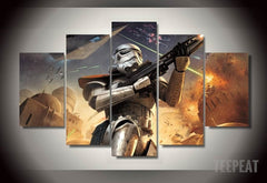 Storm Trooper Painting - 5 Piece Canvas
