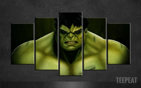 Hulk 5 Piece Canvas LIMITED EDITION - The Nerd Cave - 1