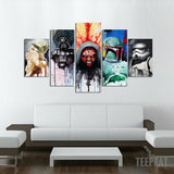 Star Icons Painting - 5 Piece Canvas-Canvas-TEEPEAT