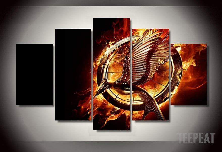 Hunger Games - 5 Piece Canvas LIMITED EDITION - The Nerd Cave