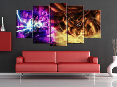 Susano VS 9 Tail Beast 5 Piece Canvas-Canvas-TEEPEAT