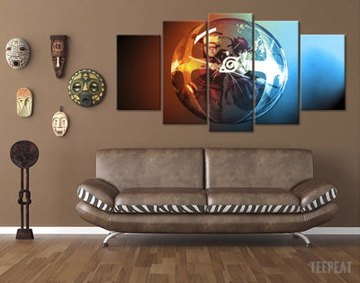Naruto Ball - 5 Piece Canvas Painting-Canvas-TEEPEAT