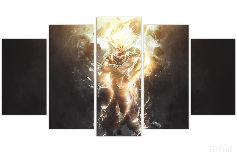 SSJ Painting - 5 Piece Canvas
