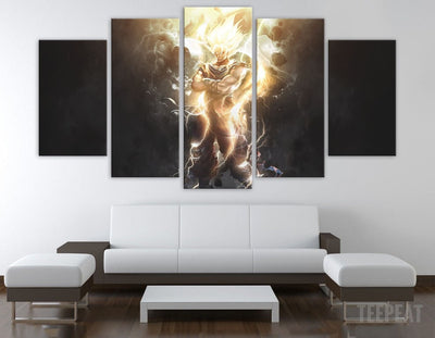 SSJ Painting - 5 Piece Canvas-Canvas-TEEPEAT