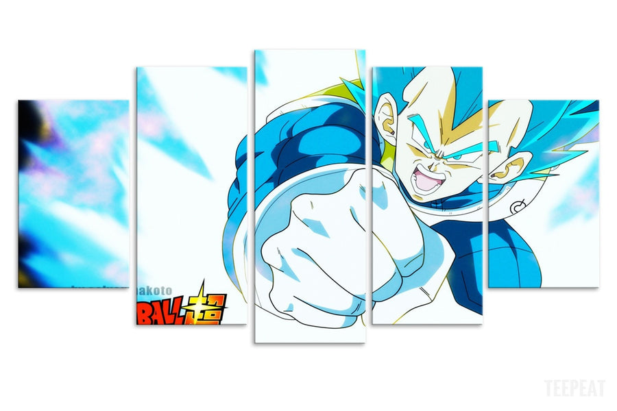 Vegeta God Painting - 5 Piece Canvas