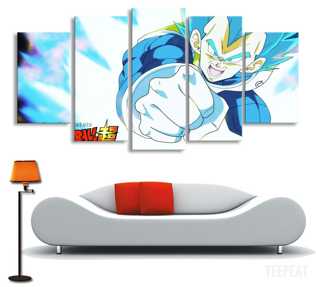Vegeta God Painting - 5 Piece Canvas-Canvas-TEEPEAT