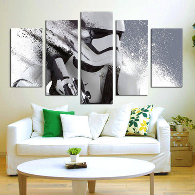Imperial Stormtrooper Painting - 5 Piece Canvas-Canvas-TEEPEAT