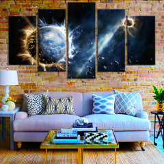 Infinite Space - 5 Piece Canvas Painting