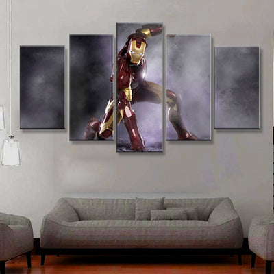 Iron Man Geared Up To Fight - 5 Piece Canvas