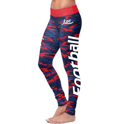 New England Football Camo Leggings