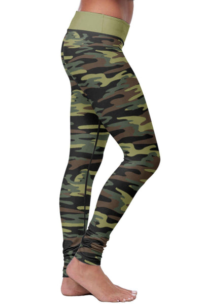 Green Camo Leggings