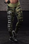 American Patriot Green Camo Leggings