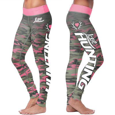 Pink Camo Hunting Leggings