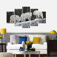 Wolves Painting - 5 Piece Canvas