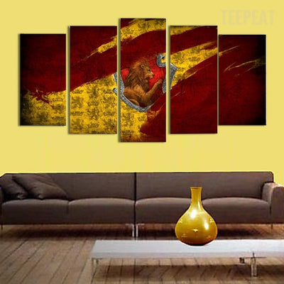 Lion Scenery - 5 Piece Canvas