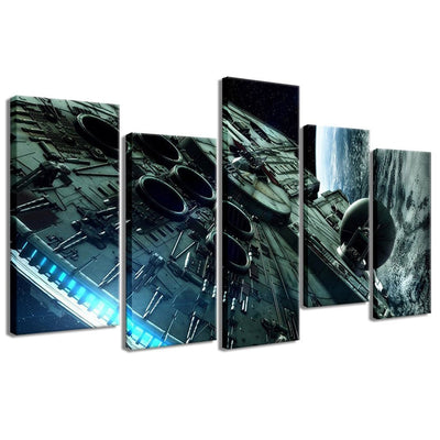 Millennium Falcon - 5 Piece Canvas Painting