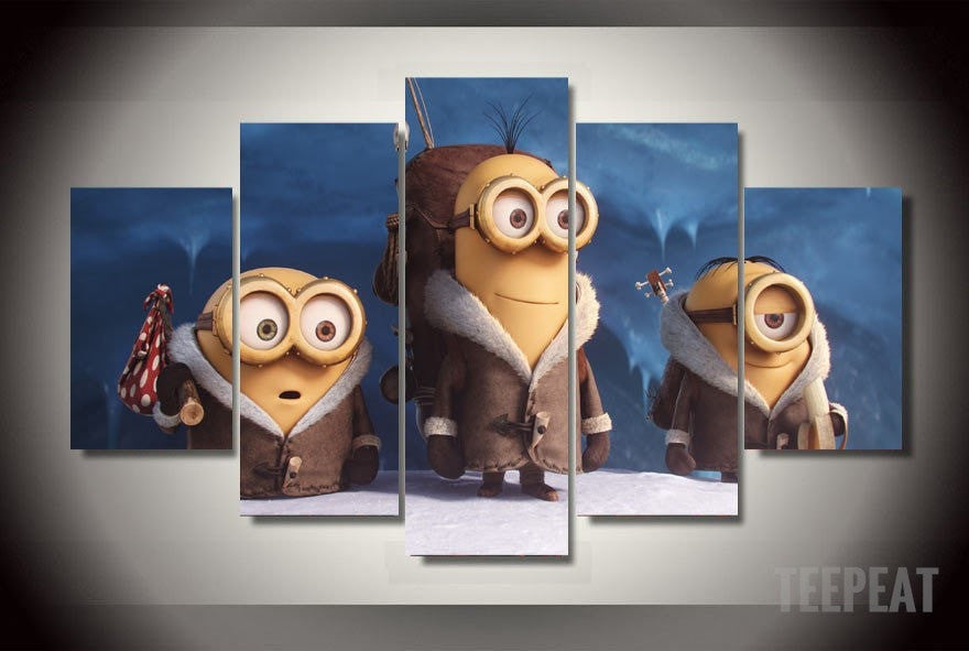 Minions - 5 Piece Canvas LIMITED EDITION - The Nerd Cave
