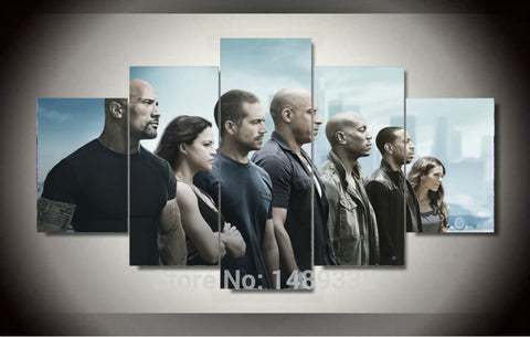 The Fast And The Furious 7 Multiple Piece Canvas LIMITED EDITION - The Nerd Cave - 1