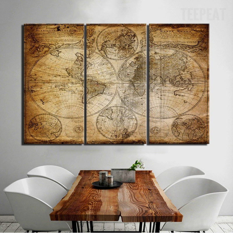 Mural world map 5 piece canvas empire prints mural world map 5 piece canvas canvas teepeat sale gumiabroncs Choice Image