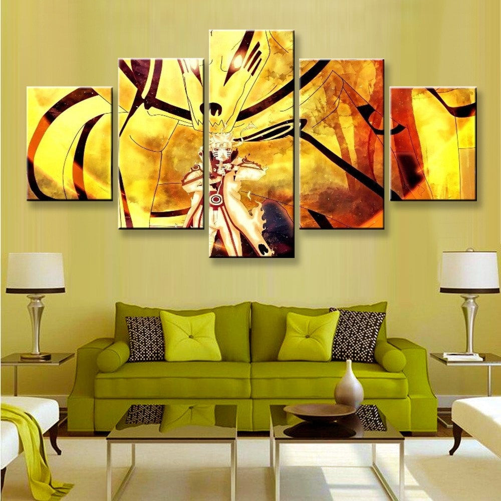 Naruto Sage Mode Painting - 5 Piece Canvas - Empire Prints