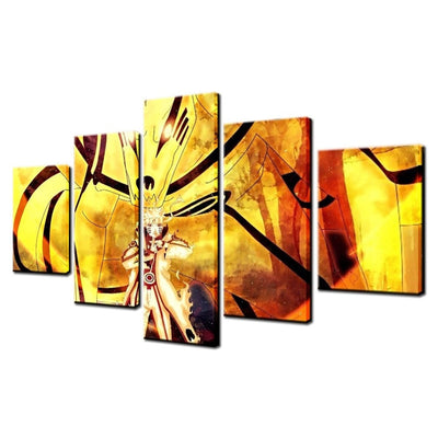 Naruto Sage Mode Painting - 5 Piece Canvas