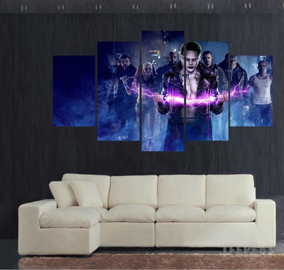 Joker Suicide - 5 Piece Canvas Painting-Canvas-TEEPEAT