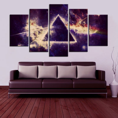 Pink Floyd V4 Painting - 5 Piece Canvas