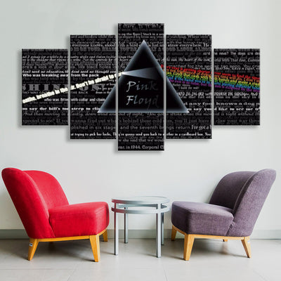 Pink Floyd V6 Painting - 5 Piece Canvas