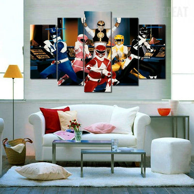 Power Rangers   5 Piece Canvas Painting Part 31