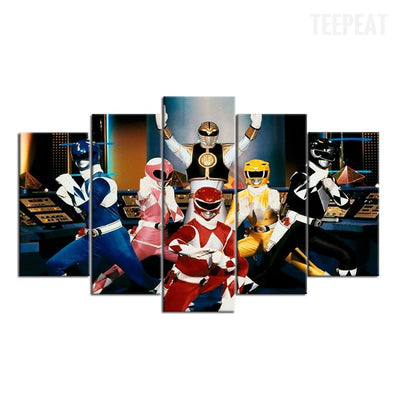 Power Rangers - 5 Piece Canvas Painting