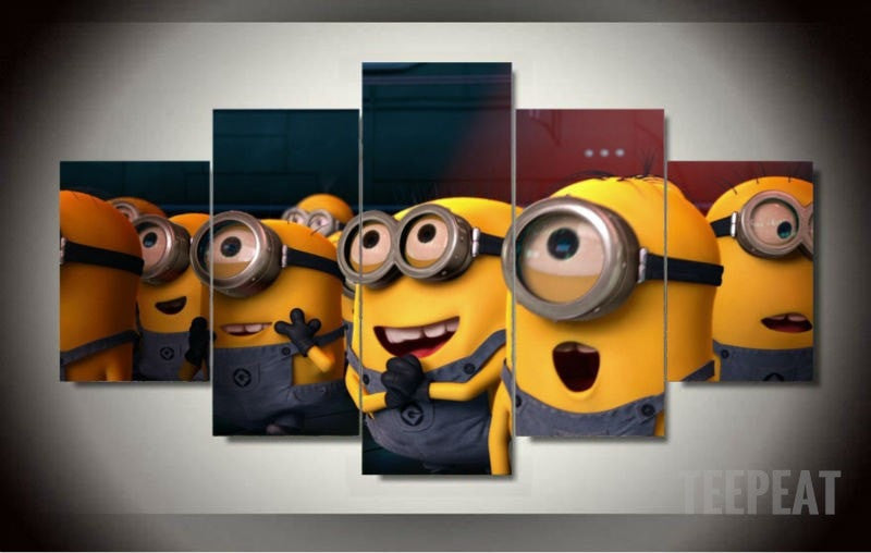 Minions 5 Piece Canvas LIMITED EDITION - The Nerd Cave