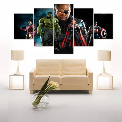 The Avengers - Nick Fury 5 Piece Canvas LIMITED EDITION - The Nerd Cave - 3