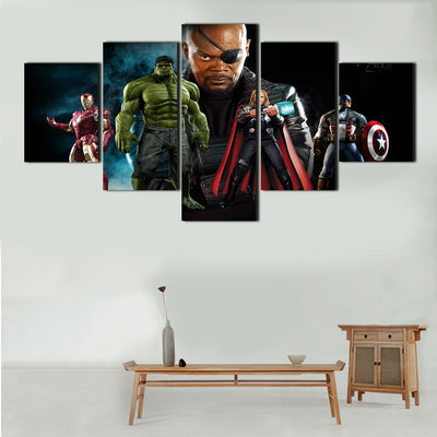 The Avengers - Nick Fury 5 Piece Canvas LIMITED EDITION - The Nerd Cave - 1