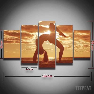 Yoga Painting - 5 Piece Canvas-Canvas-TEEPEAT
