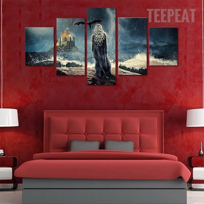 Game of Thrones Daenerys Targaryen - 5 piece canvas