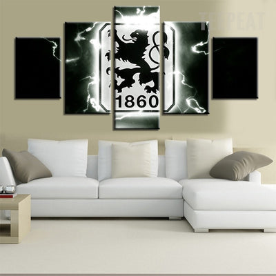 TSV 1860 Munchen Sports Team - 5 Piece Canvas