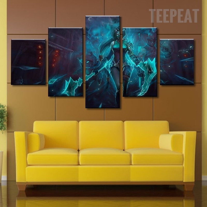 Game Shadow Fist Akali Of League Of Legends - 5 Piece Canvas ...