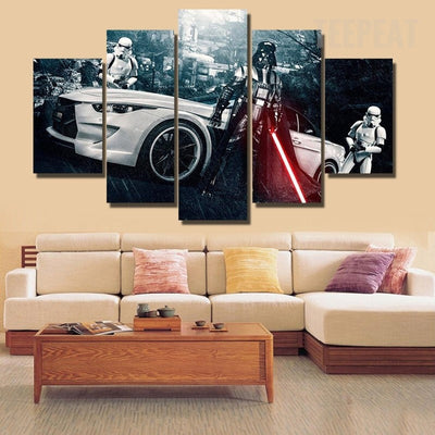 Star Wars: Darth Vader and Stormtroopers V2 Painting - 5 Piece Canvas