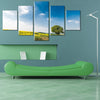 Wonderful Field Before Trees and Blue Sky - 5 Piece Canvas