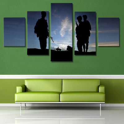 Patrol Guards Painting - 5 Piece Canvas