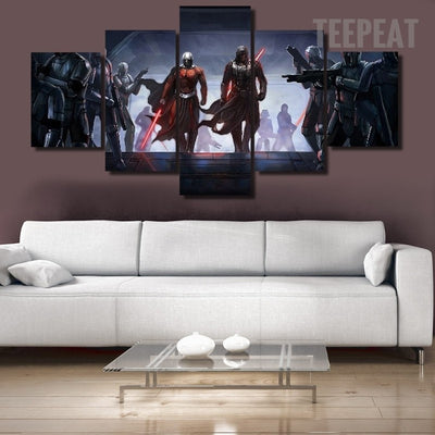 Star Wars: Darth Malak and Darth Malgus Painting - 5 Piece Canvas