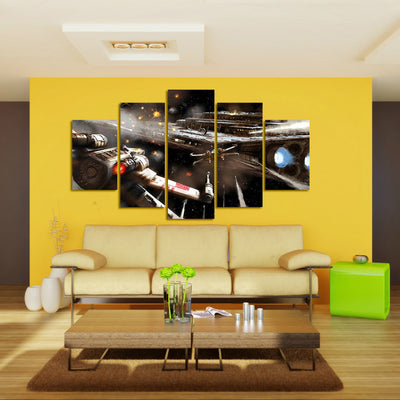 Star Destroyer X-Wing Starfighter of Star Wars - 5 Piece Canvas Painting-Canvas-TEEPEAT